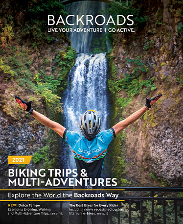 Backroads 2021 Catalog Cover - Biking & Multi-Adventures