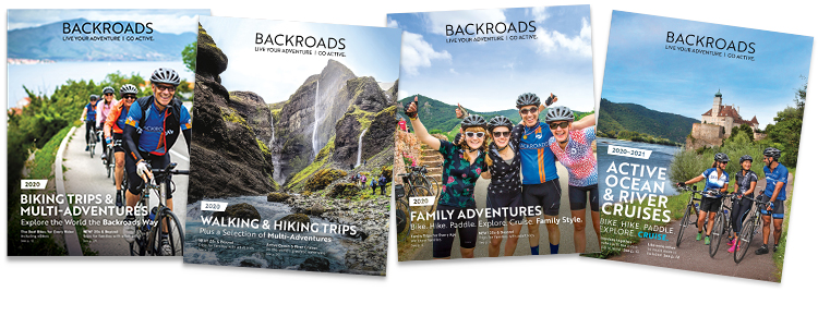 Backroads Catalogs Fanned Out