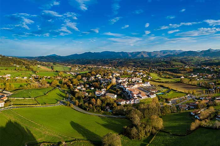 Village in the valley, Pays Basque hiking tour
