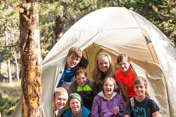 Camping - Backroads Yellowstone & Tetons Family Multi-Adventure Tour
