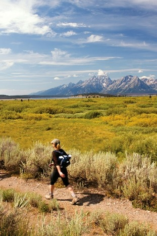 Hiker - Yellowstone & Tetons Multi-Adventure Tour