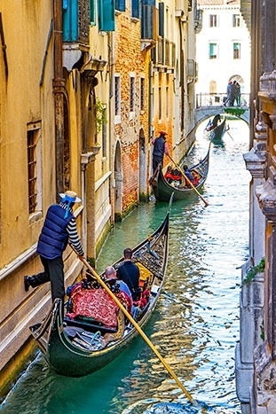 Gondolas in Venice - Venice to Croatia Ocean Cruise Bike Tour