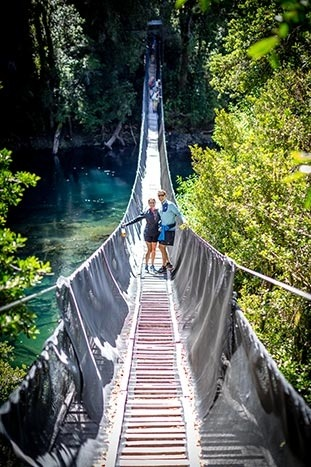 Suspension Bridge Hiking, Chile