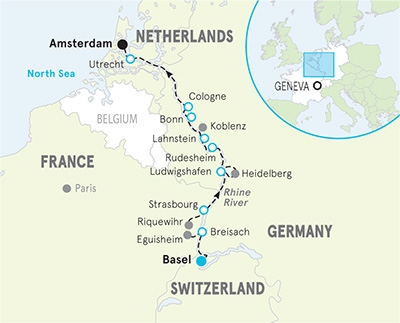 2021 Rhine River Cruise map