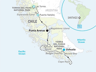 Chile Patagonia and Fjords Cruise Walking and Hiking