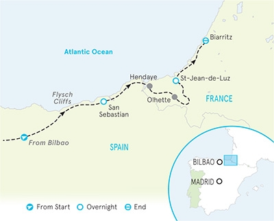 Basque Country Family Breakaway Map