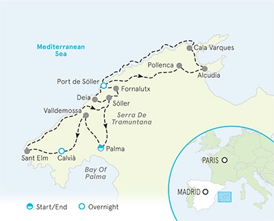 Mallorca Spain Tour Map