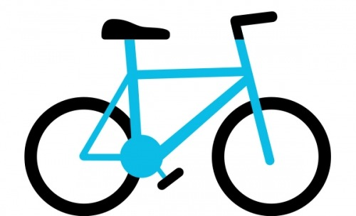 Graphic of a blue bike