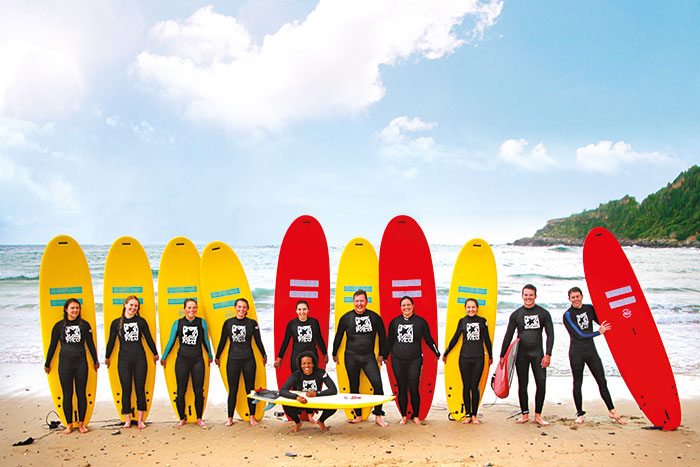Family Surfing, Basque Country, Spain