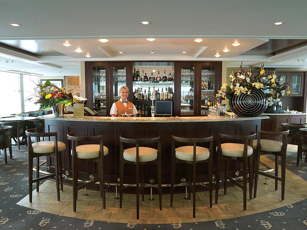 Bar on AmaWaterways ship - Seine River Cruise Bike Tour