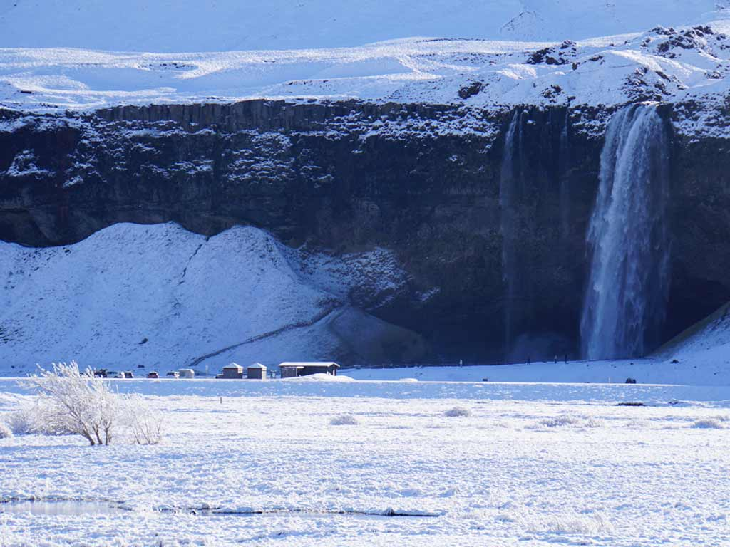 Waterfall - Iceland Winter Snow Adventure Tour