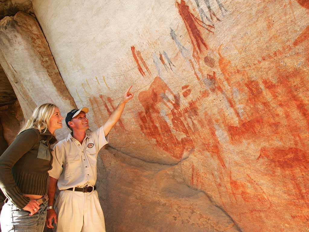 Cave painting - South Africa & Botswana Family Multi-Adventure Tour