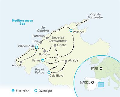 Mallorca map of spain and Mallorca